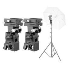 2 Stk. Blitz Halterung B Schirm Lichtgestell Shuh Adapter für Canon Nikon