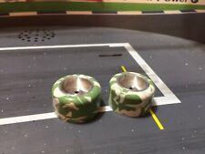 SLOT CAR White/Green Swirl CANDIES Sil-I-Kone Slicks/TIRES VINTAGE 1/24 SCALE