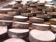 20x árbol de rebanadas de registro Rústico de Madera Real Ceniza Pieza Mesa Redonda Chic 10-12Cm