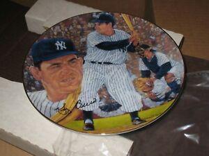 "Yogi Berra Gartlan Plate ""It Ain't Over"" 8 ~New York Yankees Hofer!"