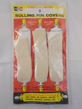 Vintage Wecolite Rolling Pin Covers Non-Stick Knitted 3 Pack