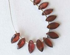 GARNET BEADS FACETED MARQUOISE 4X8 MM 11 PCS 5.5 CTS NATURAL GEMSTONE #3393