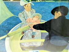 Mary Cassatt The Boating Party Print Plus First Day Issue 5 Cent Stamp 11-17-66