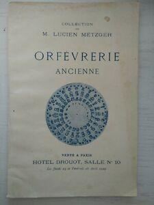 Catalogue orfevrerie