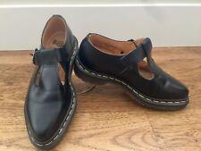Dr. Doc Marten Black Shoes Single Strap - Size 4