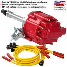 Chevy Sbc Bbc 305 350 Hei Distributor 65K Spark Plug Wire Ignition Combo Kit New