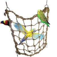 Pet Bird Swing Parrot Parakeet Budgie Cockatiel Cage Hammock Hanging Funny ToSK