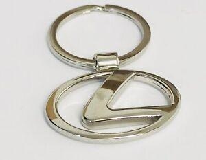 LEXUS 3D Chrome Metal Car Logo Keyring Key Fob Keychain