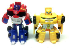 """Transformer Rescue Heroes PRIME & BUMBLEBEE 4"""" toy figures EASY FOR YOUNG KIDS"""