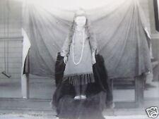RPPC LITTLE GIRL DRESSED LIKE AN INDIAN! 1910's  REAL AZO PHOTO STUDIO POSTCARD