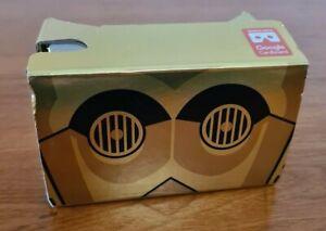 Star Wars Gold C3-PO VR Viewer Cardboard Headset Virtual Goggles Free Postage