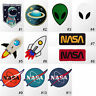 #114R Alien UFO NASA Children Kids Cartoon Embroidered Sew Iron On Patch Badge