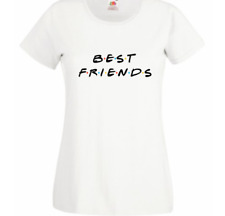 Best friends t shirt white cotton 1yr to 2XL MULTIBUY FOTL top UK new matching