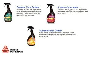 AVERY SUPREME WRAP CARE FOR CAR VEHICLE VINYL WRAP GRAPHICS WASHING CLEANING
