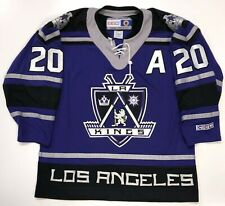 LUC ROBITAILLE LOS ANGELES KINGS ORIGINAL 2003 CCM purple SHIELD JERSEY LARGE
