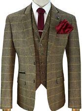 Cavani Albert Brown Tweed Three Piece Suit - Vintage Peaky Blinders Style Suit