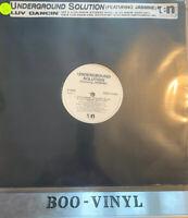 "UNDERGROUND SOLUTION -LUV DANCIN PROMO 12"" DEEP HOUSE VINYL RECORD EX CON"
