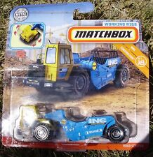 Matchbox 2019 Real Working Rigs RW046. INC Construction Road Scraper. GBK03