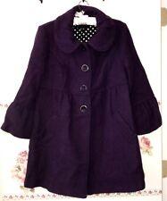 Chime Purple Coat Jacket w. Bow for Ladys Girls Women Polka Dot lining M Junior
