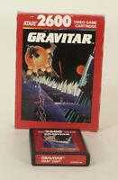 Vintage Boxed Atari 2600 game Gravitar Tested & Working