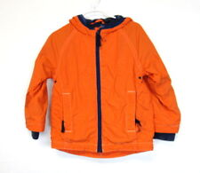 Mini Boden Boys Orange Hooded Jersey Lined Light Weight Spring Jacket Size 3-4Y