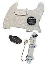 920D Fender Tele Telecaster Loaded Pickguard Duncan STK-T3B, SM-1 Pickups AWP
