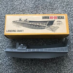 Airfix HO-00 Scale Poly Grey Landing Craft 1973 Mint Condition Boxed