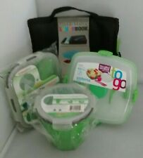 Sistema Bento To Go Set of 4 Lunch/Dinner Boxes NEW Green