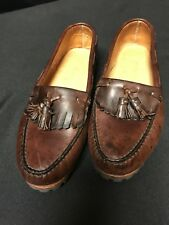 Timberland Loafers/Tassel Sz.10D Mens-Brown Leather Uppers/lining