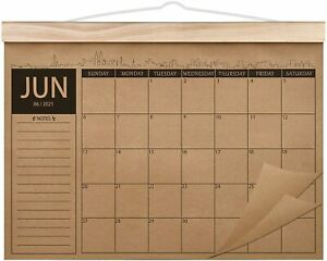 2021-2022 Calendar 18 Monthly Academic Desk Wall Planner Thick Kraft Paper Perfe