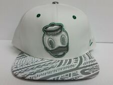 Oregon Ducks Zephyr Cap Flat Brim Snapback White Lahaina Hat Reflective