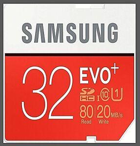 Samsung EVO Plus Micro SD Card 32GB Class 10 SDHC SDHC Memory Card💽 💾 💿 UK