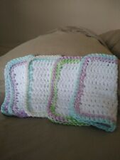 Handmade Crochet Cotton Washcloth | Wash Cloth | Dishcloth | Face Cloth