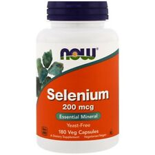 NOW Foods Selenium 200mcg 180 Veggie Caps FREE Shipping Made in USA FRESH