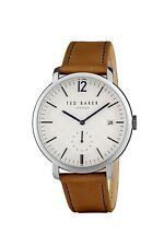 Ted Baker Men's Wristwatch - Silver Round Face - Analogue - Leather - TE50015001