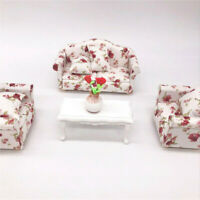 1:12 Dollhouse Miniature Furniture Vintage Sofa Armchair Couch Decor Toy Sanwood