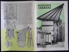 CABANA Swimming Pool Privacy Screen How-To build PLANS two designs