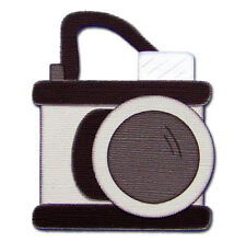 CLEARANCE - Camera Travel Vacation Handmade Premade Scrapbook Embellishment