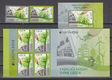 CEPT Azerbaijan Aserbaidschan 2016 Mi 1138-40 Bl.164+Bookl. MNH** Think Green