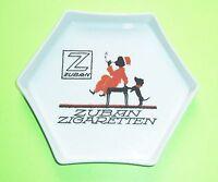 Alter Reklame Aschenbecher Zuban Zigaretten um 1930 Art Deco Schumann Porzellan