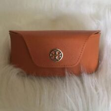 Tory Burch Orange Gold Logo Glasses Eyeglasses Sunglasses Protective Case