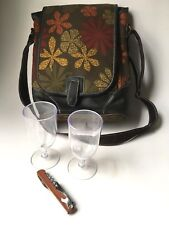 Picnic Plus insulated wine shoulder bag w/ adjustable strap Lunch Tote Elegant