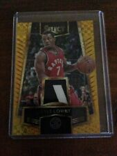 Kyle Lowry 2016 17 Select #50 Gold Prizm  7/10 JERSEY#+ ROOKIE AUTO