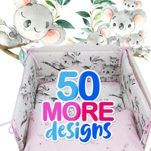 KOALA 3 or 5 pc BABY BEDDING SET fit Cot 120x60cm / Cot Bed 140x70+MORE DESIGNS