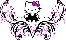 HELLO KITTY, TRIBAL DRESSnDESIGN  DECAL,VINYL,GRAPHIC,HOOD,SIDE OF CAR