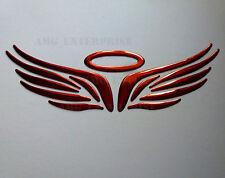 RED Chrome Effect Angel Halo Badge Decal Sticker for Subaru Impreza WRX STi BRZ