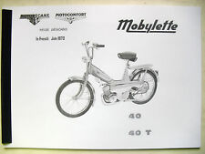 Mobylette/Moped/ 40 / 40T / In French/ Parts Book With Exploded Diagrams