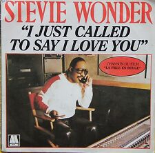 """Vinyle 45T Stevie Wonder """"I just called to say I love you"""""""