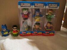 Little People DC Super Friends Complete set  Batman Robin Joker Justice League