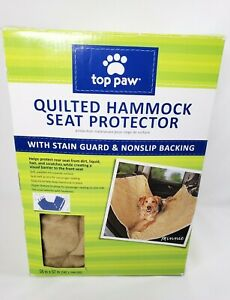 TOP PAW QUILTED HAMMOCK SEAT PROTECTOR PET CAR HAMMOCK SEAT